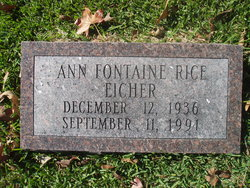 Ann Fontaine <i>Rice</i> Eicher