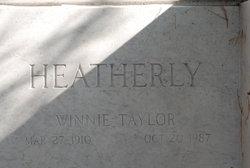 Winnie Iva <i>Taylor</i> Heatherly