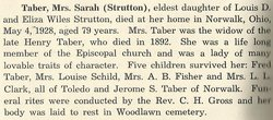 Sarah <i>Strutton</i> Taber