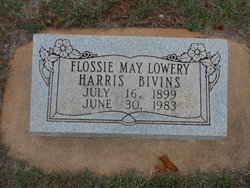 Flossie May Harris <i>Lowery</i> Bivins