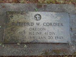 Sgt Clifford William Cordier