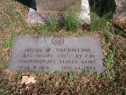 John W Valentine