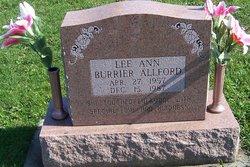 Lee Ann <i>Burrier</i> Allford