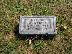 Harriett Hallie <i>Strickler</i> McNaight