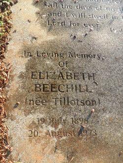 Elizabeth <i>Tillotson</i> Beechill