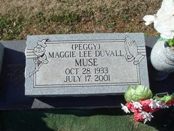 Maggie Lee Peggy <i>Duvall</i> Muse