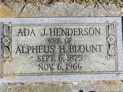 Ada John <i>Henderson</i> Blount
