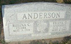 Rosina C <i>Clark</i> Anderson