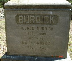 Mary Tripp <i>Hoxsie</i> Burdick