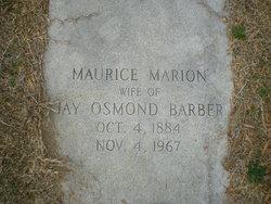 Maurice <i>Marion</i> Barber