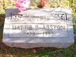Mattie P <i>Davis</i> Abston