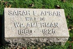 Sarah E <i>Apgar</i> Amerman