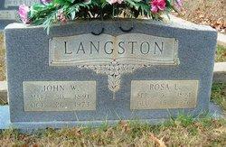 Rosa L <i>Melton</i> Langston