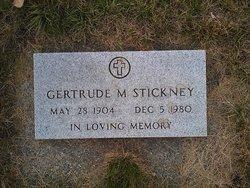 Gertrude M <i>Lindgren</i> Stickney