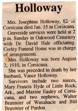 Josephine Margaret <i>Braxmier</i> Holloway