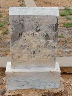 Henrietta <i>Terrill</i> Hines
