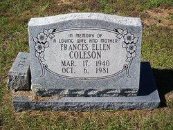 Frances Ellen <i>Milstead</i> Coleson