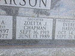 Zoetta June <i>Pearson</i> Chapman