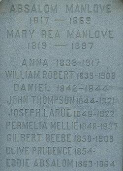 Mary Fortner <i>Rea</i> Manlove