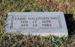 Zadie <i>Hallford</i> Nix