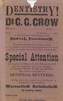 Dr George Gans G.G. Crow