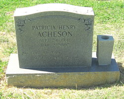 Patricia <i>Henry</i> Acheson