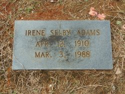Irene <i>Shelby</i> Adams