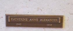 Katherine Anne Alexander