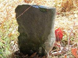 Unmarked fieldstone graves