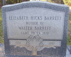 Elizabeth <i>Hicks</i> Barrett