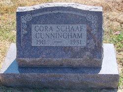 Cora <i>Schaaf</i> Cunningham