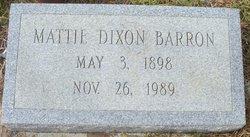 Mattie <i>Dixon</i> Barron