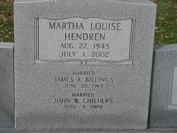 Martha Louise <i>Hendren</i> Billings