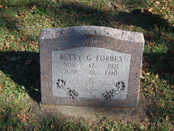 Betty Gene <i>Caldwell</i> Forbes
