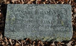 Mary E. <i>Haman</i> Kundert