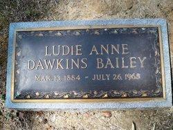 Ludie Anne <i>Dawkins</i> Bailey