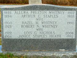 Lois G <i>Nichols</i> Whitney