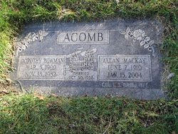 Dorothy <i>Bowman</i> Acomb