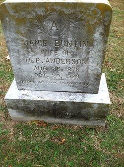 Jane <i>Buntin</i> Anderson