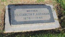 Elizabeth Fannie <i>Holder</i> Abraham