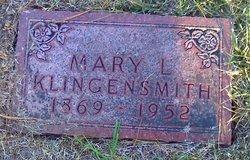 Mary L <i>Cornelison</i> Klingensmith