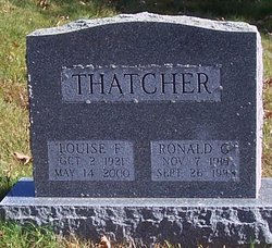 Louise F Thatcher