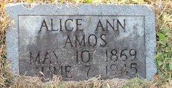 Alice Ann <i>Bowman</i> Amos