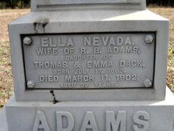 Ella Nevada <i>Dack</i> Adams