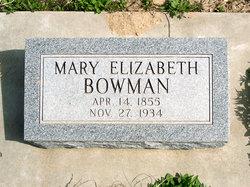 Mary Elizabeth <i>Parrish</i> Bowman