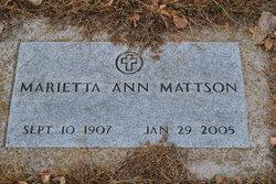 Marietta Ann <i>Saxon</i> Mattson