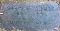 Anna <i>Abbott</i> Schmidt