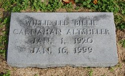 Willie Lee Billie <i>Carnahan</i> Altsheler
