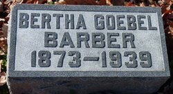 Bertha <i>Goebel</i> Barber