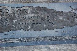 Martha G. <i>Thomas</i> Anderson